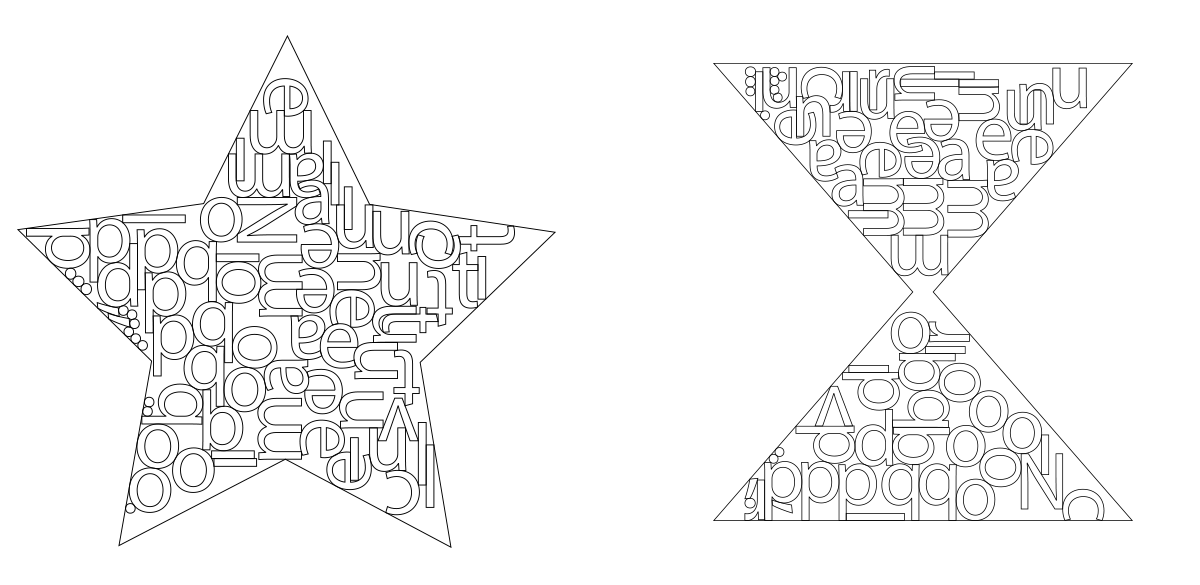 non-rectangular shapes